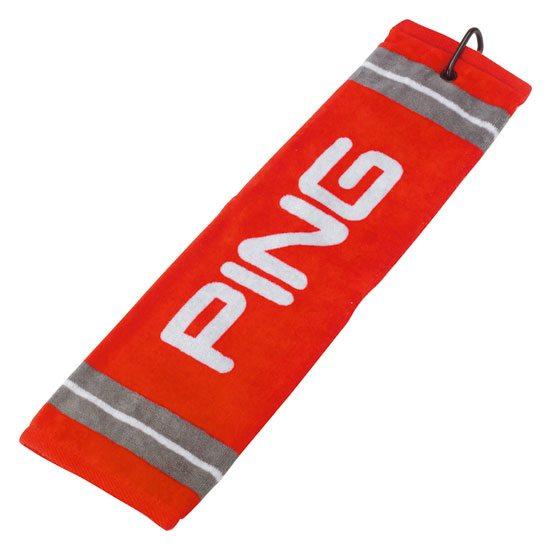 Ping Handduk Trifold Assorted Röd Grå  5a2669922d129