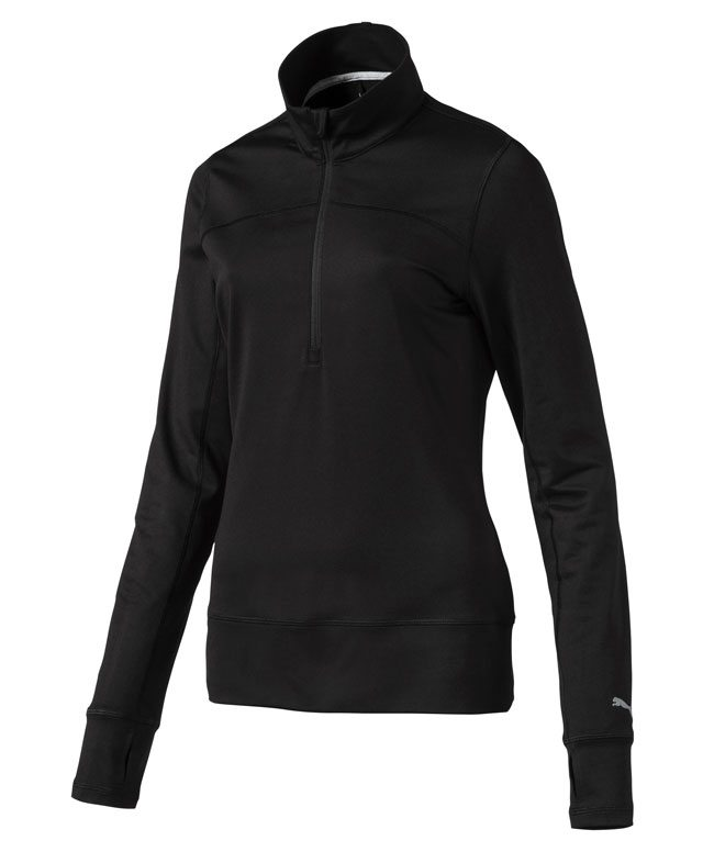 Puma Long sleeve Lady 1 4 Zip Black 705a13420