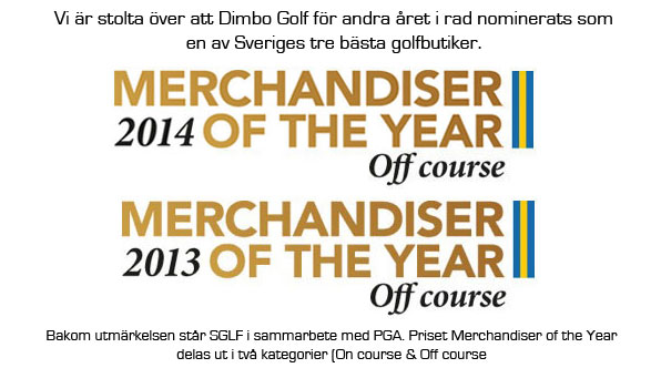 Dimbo Golf nominerade till Merchandiser of the Year