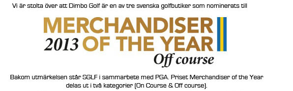 Dimbo golf nominerade till merchandiser of the year 2013