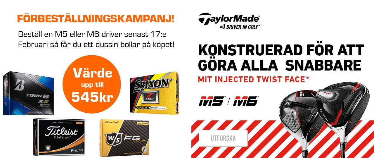 TaylorMade Driver M5 & M6 kampanj förbeställning
