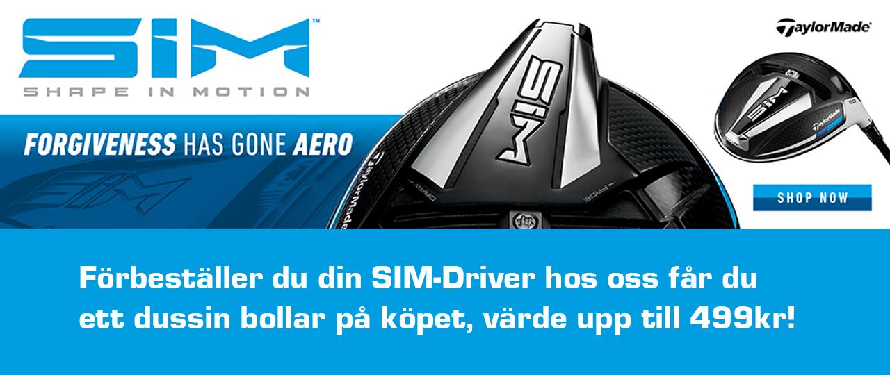 TaylorMade Driver SIM kampanj förbeställning